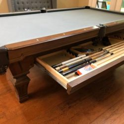 Olhausen Pool Table & Signed Meucci Cues