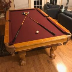 Beringer 8' Slate Pool Table