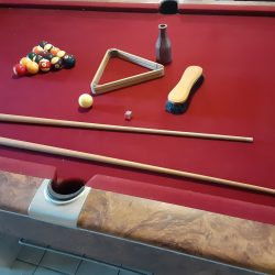 9' Gandy Pool Table and accessories for sale